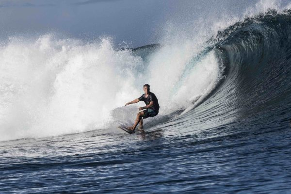 Namotu Island Resort, Nadi, Fiji (Wednesday, February 21 2018): The wind was light from the E most of the day and the swell had settled down overnight to a 4'- 6' range from the South West. Cloudbreak was a solid 6'  while Namotu lefts and Wilkes were the pick of the spots for the guests. Other guests  spent their time fishing. Photo: joliphotos.com